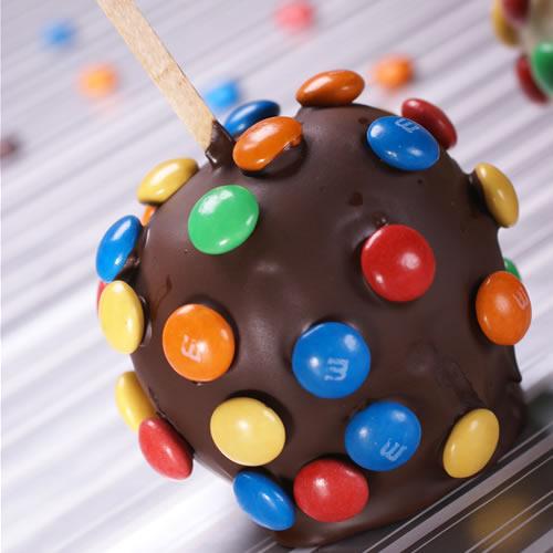 çikolatalı renkli elma topları tarifi